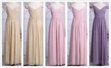 Women's Long Chiffon Evening Formal Party Gown Prom Bridesmaid Cocktail Dress
