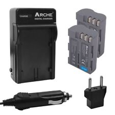 ARCHE Battery (2) and Charger for Nikon EN-EL3e and Nikon D700 D300S D300 D200