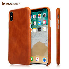 Jisoncase Genuine Leather Case for iPhone X Case Cover Leather Luxury Brand
