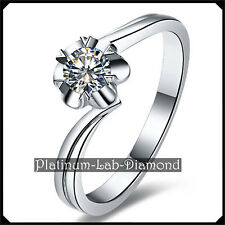 0.23Ct VVS1 Solitaire DIAMOND Platinum PT950 Promise Ring Engagement Band KELLY