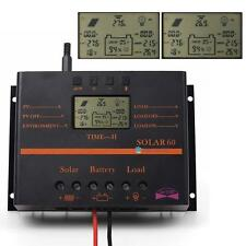 60A/80A 12V/24V LCD Solar Battery Regulator Charge Discharge Controller & USB KB