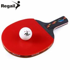 REGAIL D003 One Table Tennis Ping Pong Racket One Penhold Bat Paddle+One Ball US