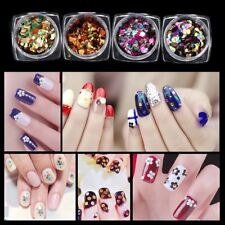 12 Color GLITTER Shiny Ultra-thin Sequins Nail Art Sparkly Decoration DESIGN YL