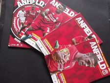 2015/16 LIVERPOOL HOME PROGRAMMES CHOOSE FROM