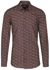 Dolce & Gabbana Men's 'GOLD' Aubergine Eggplant Print Button Down Dress Shirt