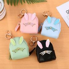 Women Synthetic Leather Cute Rabbit Ear Pattern Coin Purse Wallet with ED
