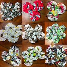 Vintage Retro 80s / 90s Patterned Scrunchie Hair Ties Funky Floral Abstract