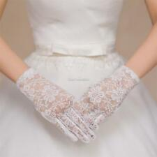 Women Wedding Party Evening Lace Floral Gloves Bridal Gloves Sunscreen SH 01