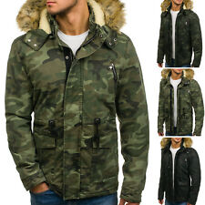 BOLF Mens Jacket Parka Winter Coat Long Hooded Warm Camouflage Army 4D4 Camo
