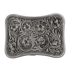 Zinc Alloy Vintage Western Belt Buckle Arabesque Pattern Cowboy Cowgirl Men