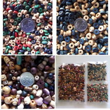 Bulk Mixed Wooden Beads Round Discs Spacer 5mm to10mm+ Jewellery Beading Craft