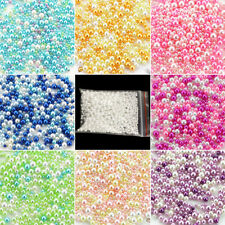 500Pcs Colorful Round Resin Pearl Spacer Loose Beads For Jewelry Making 2.5-5mm