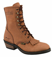 AdTec Mens Tan 9in Packer Work Boots Leather Lacer