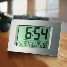 Clock w/Thermometer & Hygrometer Alarm Clock Weather Station Wall Clock-4Styles