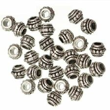 100pcs Silver Plated Round Shape Metal Material Beads for Jewelry Making