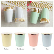 Supplies Tableware Disposable Birthday 8pcs/Set Party Paper Cups Wedding Hot