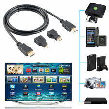3 in 1 HD High Speed HDMI to Mini/Micro HDMI Adapter Cable For PC TV Cell Phones
