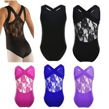 New Kids Sleeveless Leotard Girls Cotton Ballet Dance Gymnastics Leotard SZ 6-12