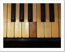 Closeup Of Black And White Piano Keys And Wood Grain With Vintage Sepia Tone...