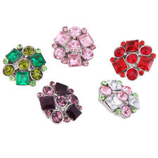 Wholesales Lots Square Rhinestone Alloy Buttons Snaps Chunk Button 18mm