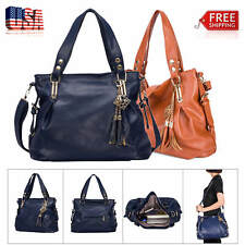 Fashion PU Handbag Ladies Shoulder Bag Travel Portable Tote Bag Women's Soft Bag