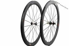 50mm Clincher Carbon Bicycle Wheel 700C 25mm width Carbon Road  WOKECYC Wheelset
