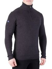 Superdry Men's Metropolitan Northside Henley Knit, Black
