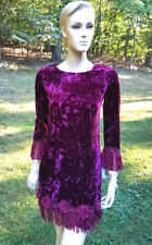 Fall17 Biscotti Girls Berry Crushed Velvet Holiday Dress Long Sleeve 10  NWT