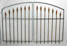 Center Divide Gate 6'w x 3't Wrought Iron Entry Gate
