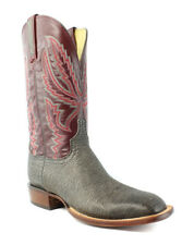 Lucchese HY2503.W8 Archer Mens Anthracite Grey Goat Leather Cowboy Western Boots