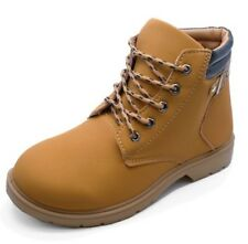 LADIES TAN LACE-UP DESERT COMFY CASUAL HIKING TRAIL ANKLE BOOTS SHOES SIZES 3-7