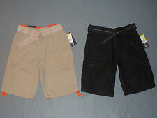 NWT Boys US Polo Assn Belted Ripstop Accented Cargo Shorts -U Pick Size + Color