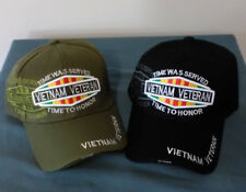 Vietnam Veteran , Time Served, Embroidered Adjustable Ball Cap Hat