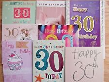 Variety Of 30th Happy Birthday Greetings Cards Best Wishes Age 30 Greeting Card