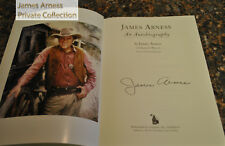 "James Arness Private Collection ""James Arness:  An Autobiography""  SIGNED"