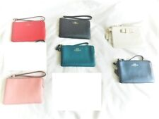 COACH Crossgrain Leather Wristlets NWTs 6 DESIGNS TO CHOOSE FROM Incl. Gift Box