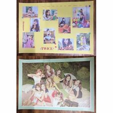 K-pop Star TWICE Official POSTER Set of TWICETAGRAM Likey LOT2 Unfolded in Tube