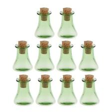 10Pcs Triangle Cork Wishing Bottle Dry Flower Bottle Ash Bottle DIY Pendant
