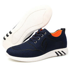 """GOG Men's 2.4"""" Height Increase Lace-Up Casual Fashion Sneakers Different Sizes"""