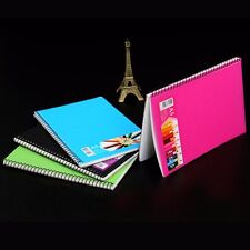 A5 Spiral Coil Plastic Cover Notebook Diary Journal Student Sketch Book Note #JP