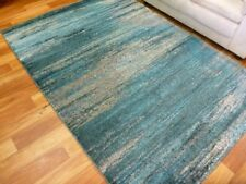 Modern Contemporary Design Nice Quality Area Floor Rugs Ocean Awash Turquoise