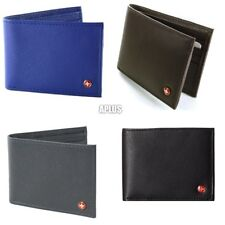 Alpine Swiss Mens Leather Flipout ID Wallet Bifold Trifold Hybrid NEW