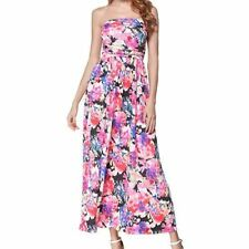 Women Strapless New Arrival Floral Printed Long Maxi Dress With Pocket i148