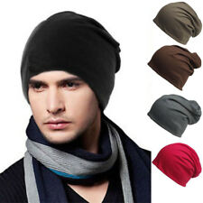 Unisex Women Mens Knitted Winter Warm Oversized Ski Slouch Hat Cap Baggy Beanie@