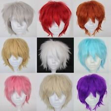 Hot Style! Short Straight Full Wigs Synthetic Hair Wig Anime Cosplay Party