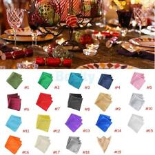 10pcs Christmas Banquet Square Satin Cloth Napkin or Pocket Handkerchief Hanky
