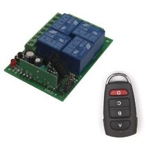 24V/12V 4CH Relay Wireless Switch Remote Control ON/OFF Transmitter Receiver Kit