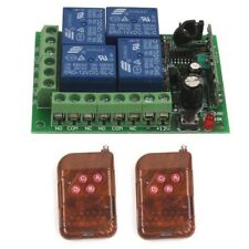 12V 4CH Relay Wireless Remote Control ON/OFF Switch 1/2/3 Transmitter+Receiver