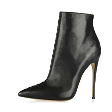 Sexy 12cm High Heels Boots Women's Pointed Toes Pumps Women Leather Shoes