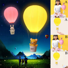 Fire Air Balloon Night Light Children Bedroom Decor LED Lamp Bulb Touch Remote